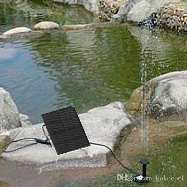 Discount High Quality Solar Panel Power Submersible Fountain Pond Pool Water Cycle Pump Outdoor