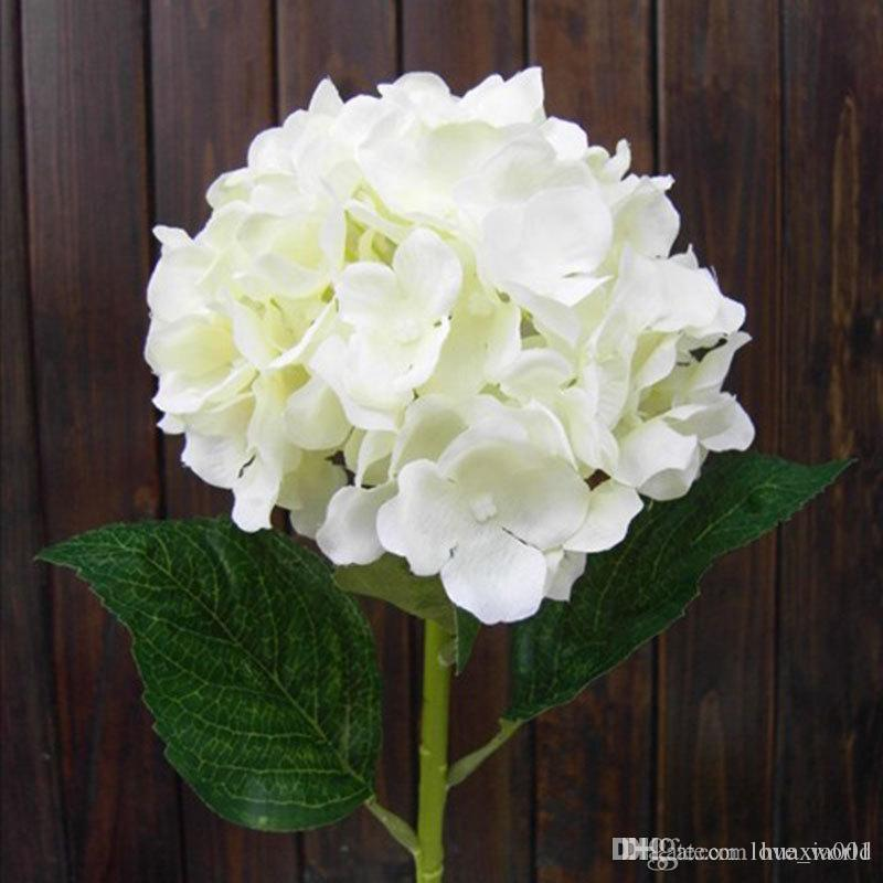 Real Looking White Hydrangea Flower 80cm 31 5 Artificial Hydrangeas For Wedding Centerpieces Flowers Home