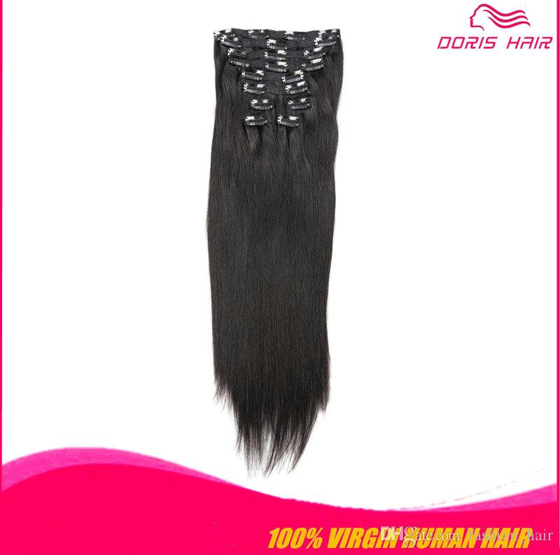 Cheap Remy Clip In Human Hair Extensions 20