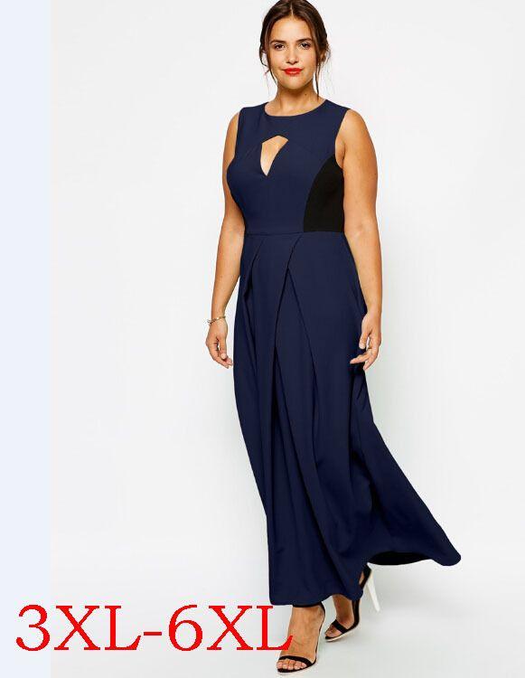 Plus Size Long Summer Dresses Women Big Size 6XL Maxi Vesidos ...