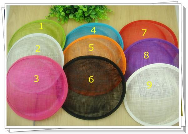 """Free shipping 8""""/20cm 9 COLORS sinamay fascinator base/ sinamay hair accessories,DIY hair accessories 12pieces/lot MH024"""