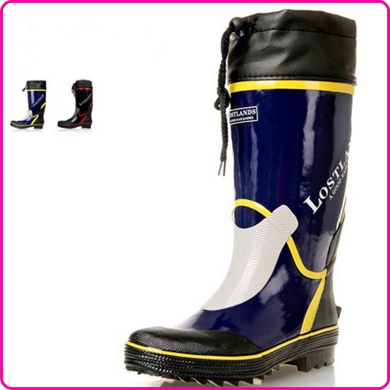 Men Winter Rubber Boots Warm Rain Boots Brand Tall Rubber ...