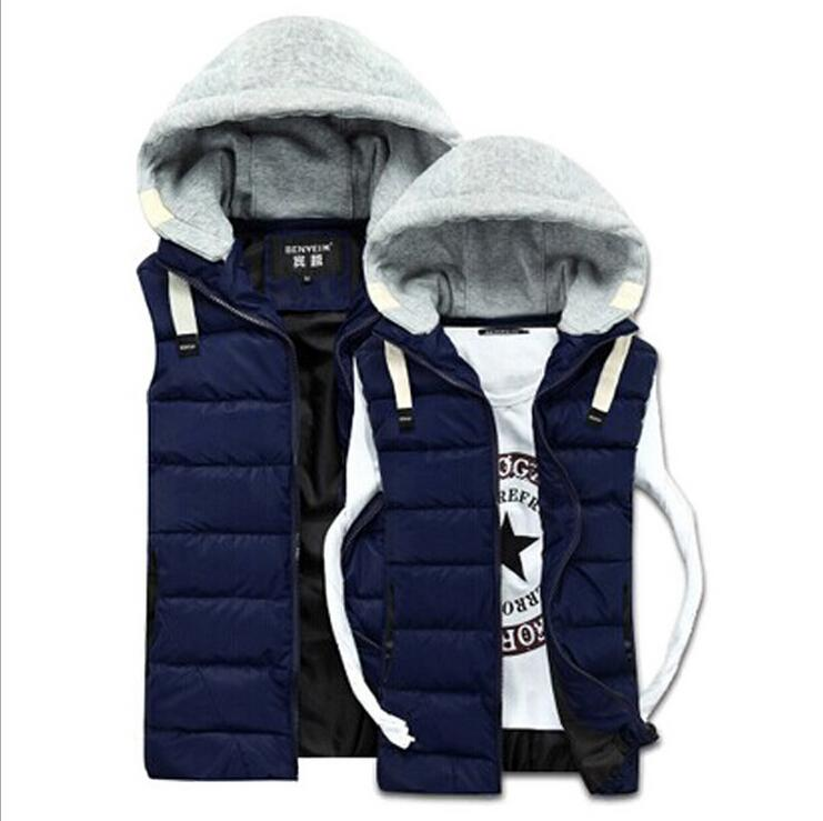 2017 Men Hooded Vests 2015 Mens Women Winter Coats Fashion ...