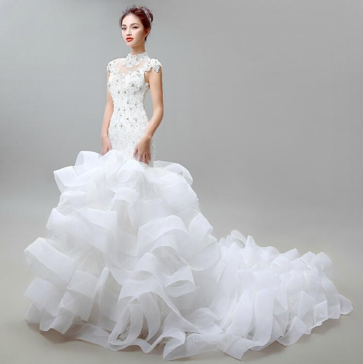Fishtail Wedding Gowns: Fishtail Wedding Dresses Palace Retro Of Bud Silk