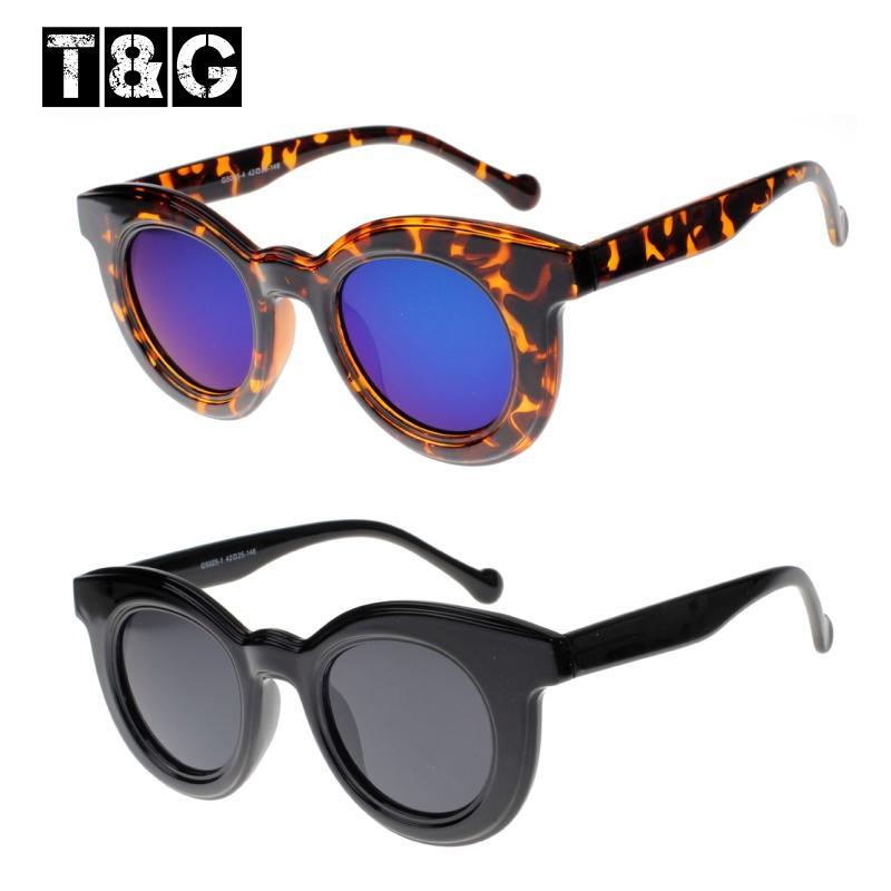 mirrored circle sunglasses  Thick Frames Round Glasses 80\u0027S Circle Trendy Sunglasses Revo ...