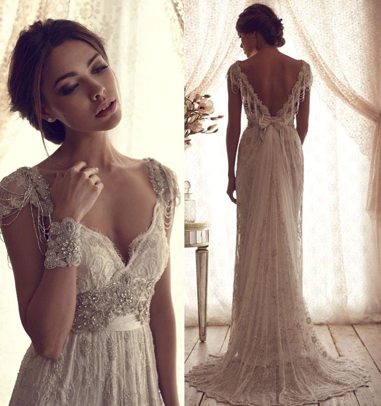 Discount Sexy Backless Bohemian All Lace Beach Wedding