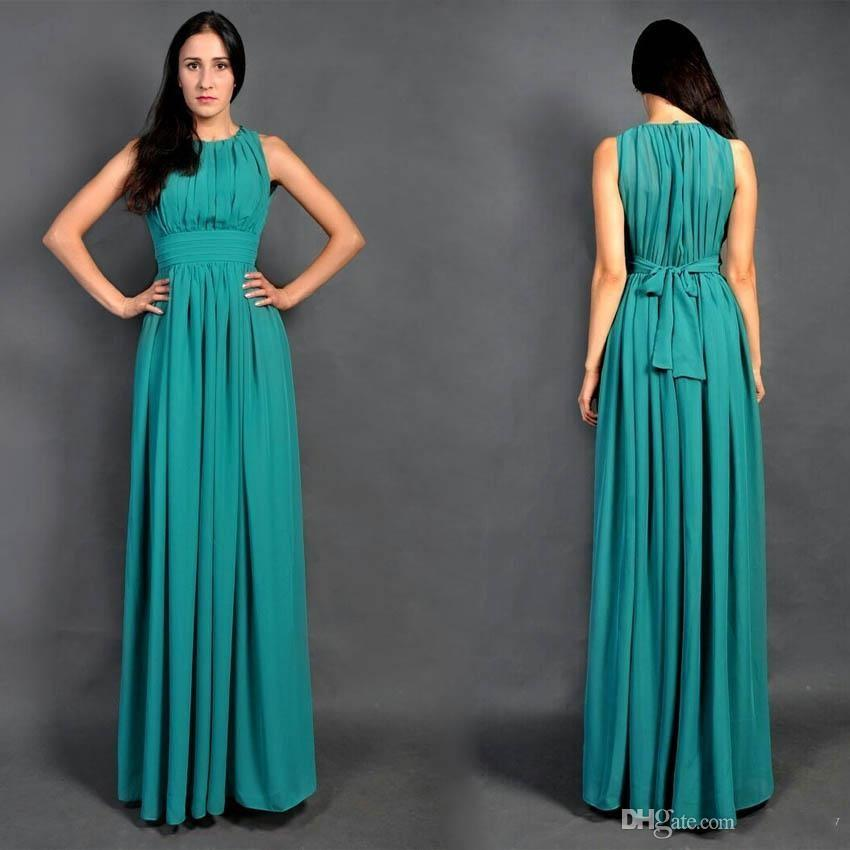 2015 cheap long turquoise chiffon beach bridesmaid dresses for Turquoise bridesmaid dresses for beach wedding