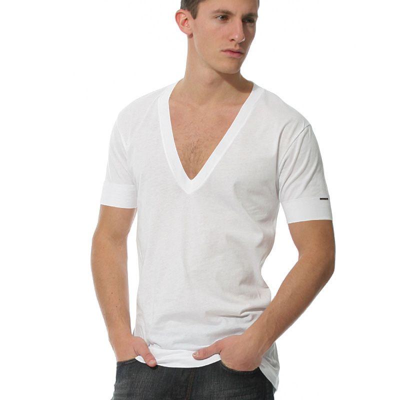 Undershirt For Men Deep V Neck Men 39 S Shirt Breathable