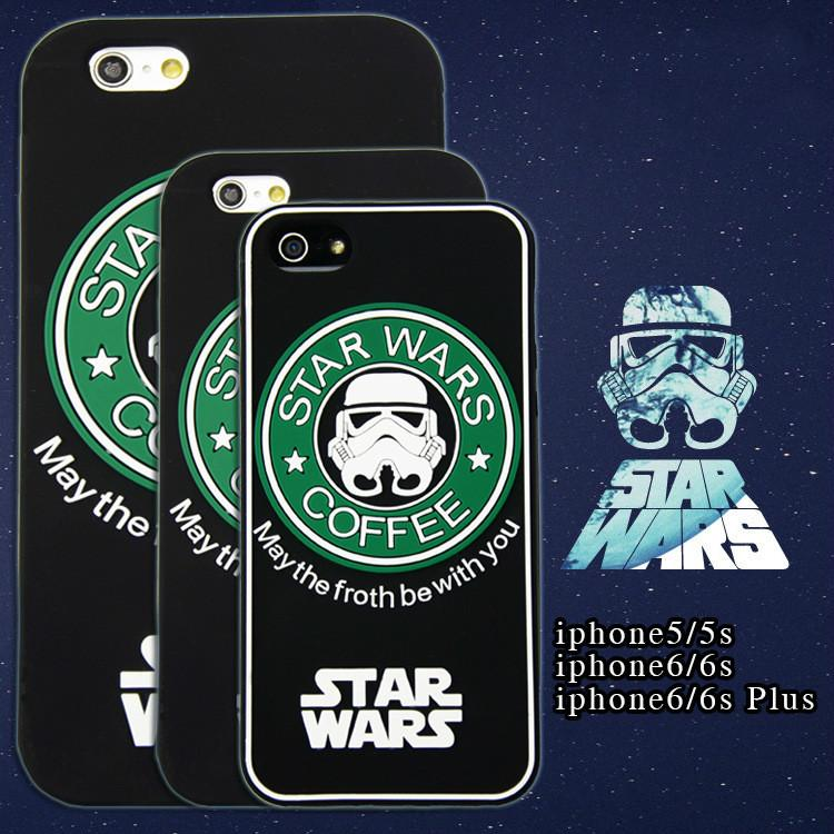 10 Star Wars Starbucks edition Cartoon Silicon Phone Case Master Character Figure Soft Cover iPhone 5/5S/6/6S Plus