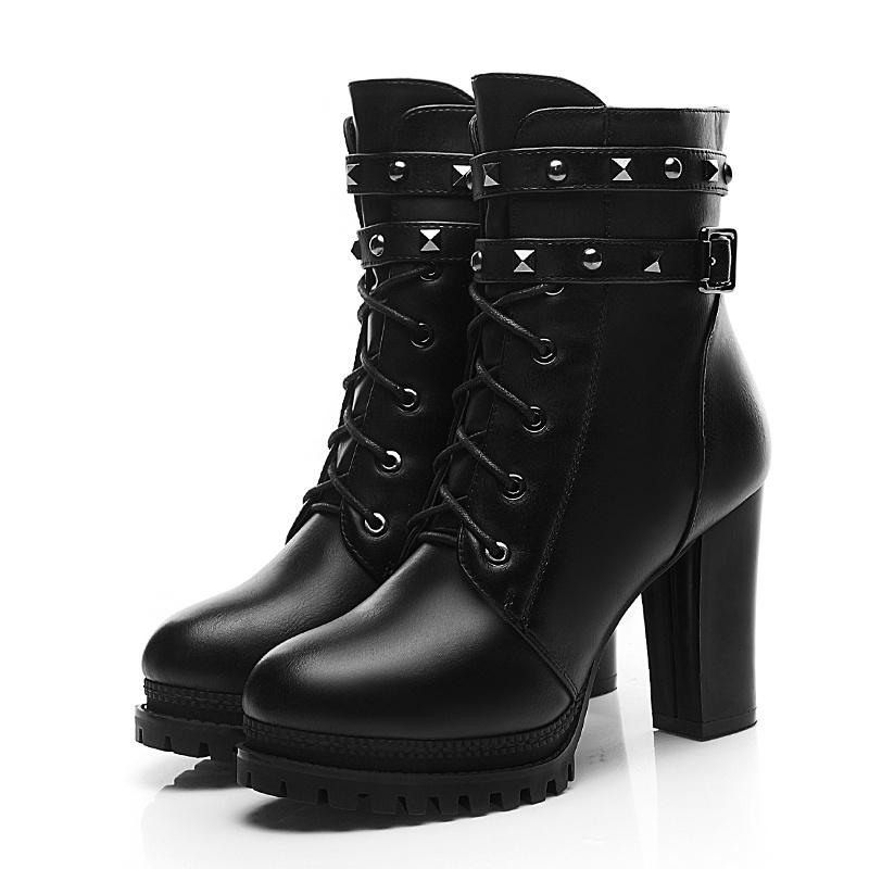 Cheap Womens Buckle Boots Martin Boots For Women Military Boots ...
