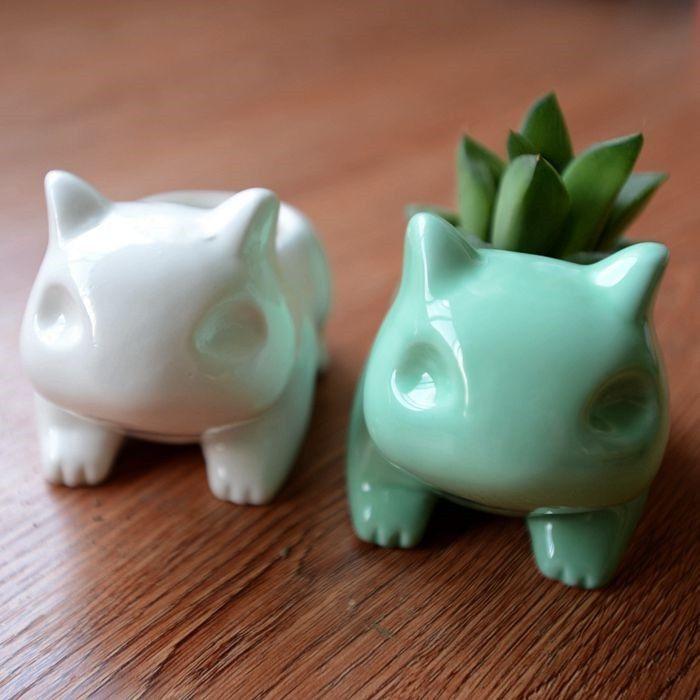 2017 glazed ceramic flower pots planters cute animal for 6 ceramic flower pots