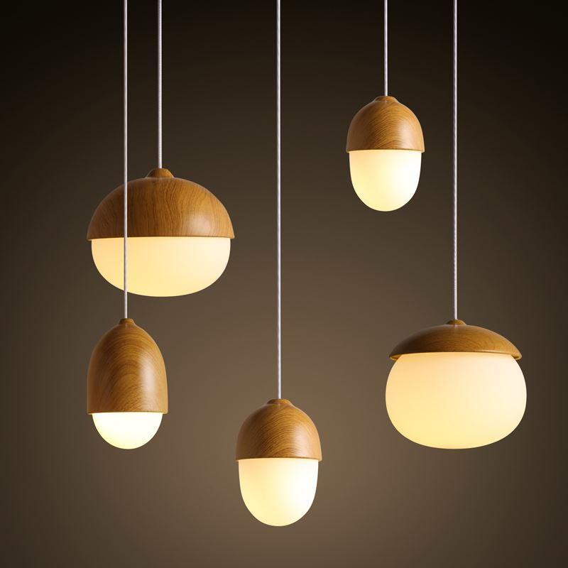 Marvelous Modern Nodic Wood Acrylic Pendant Lamp Suspension Light Lighting Fixture DIY
