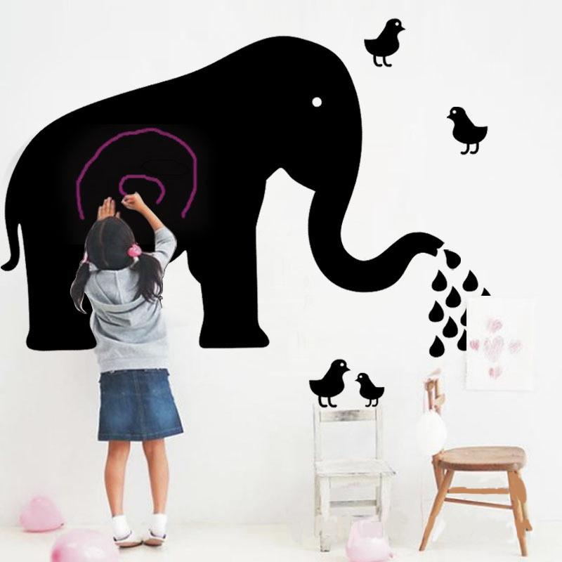 2017 Creative Elephant Blackboard Wall Stickers DIY PVC Nursery Background  Home Decor Remove Wall Decal Creative Blackboard Sticker DIY Wall Stickers  Remove ... Part 41