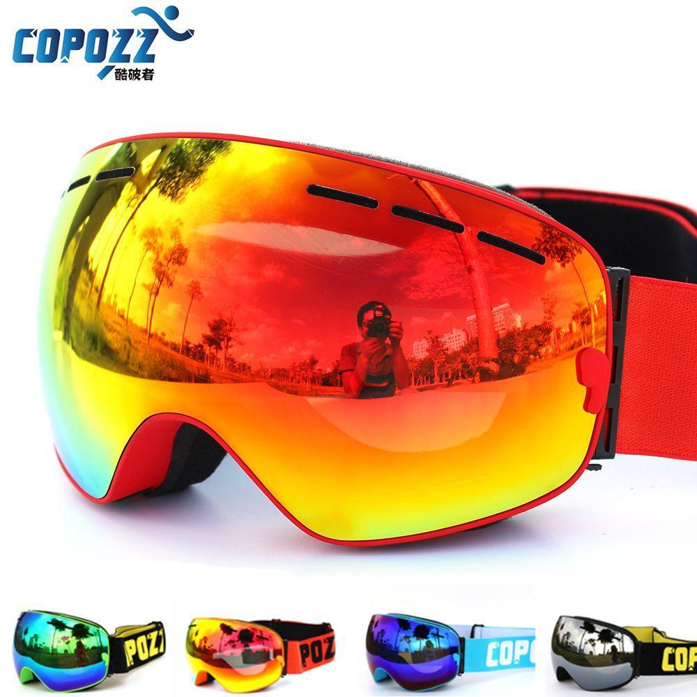 ski goggle brands  Discount New Copozz Brand Professional Ski Goggles Double Lens ...