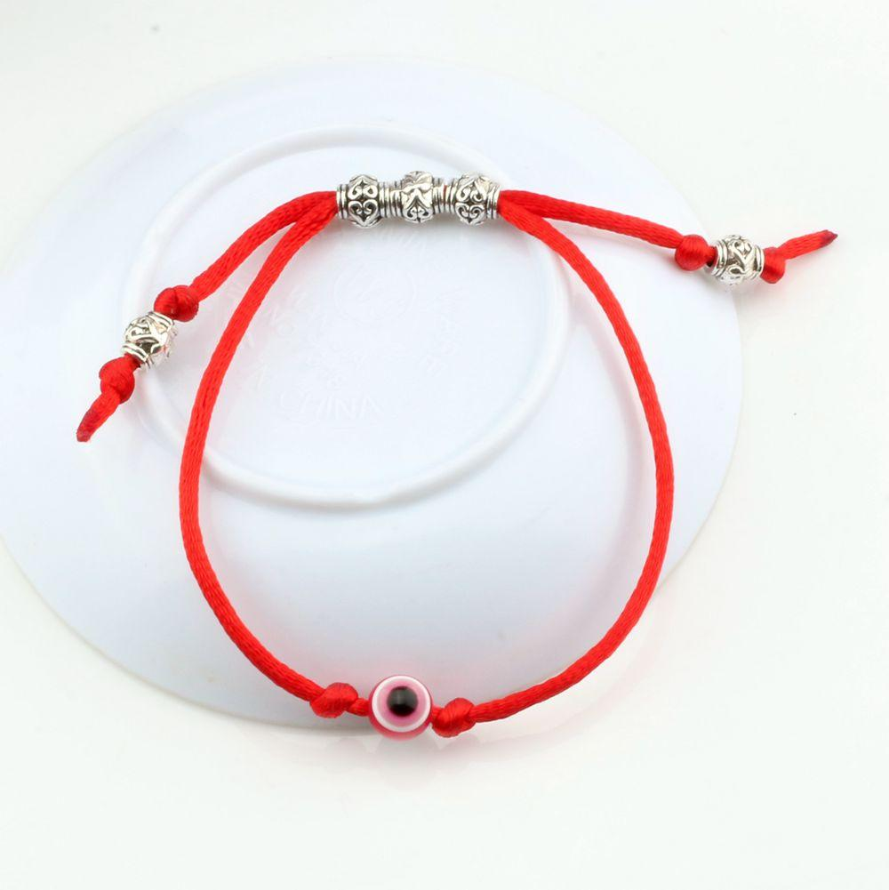 Hot ! Adjustable Kabbalah Red String Bracelet Evil Eye Bead Red Protection Health Luck Happiness ...