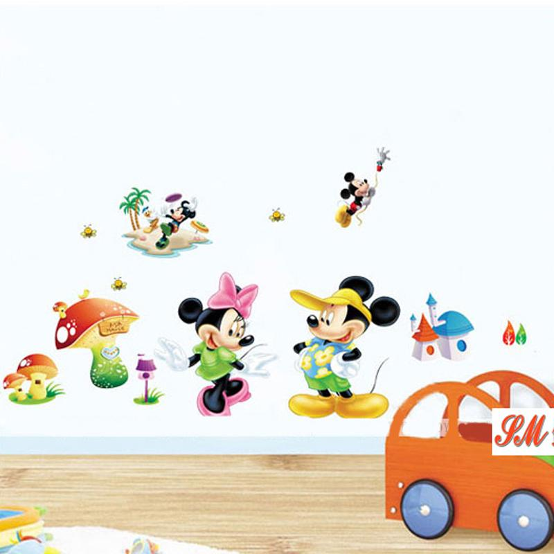 Mickey Mouse And Minnie Mouse Wall Sticker Decals Children Room Nursery  Decoration Adhesive Mural Removable Vinyl Wallpaper Mickey Mouse Wall Decals  ... Part 79