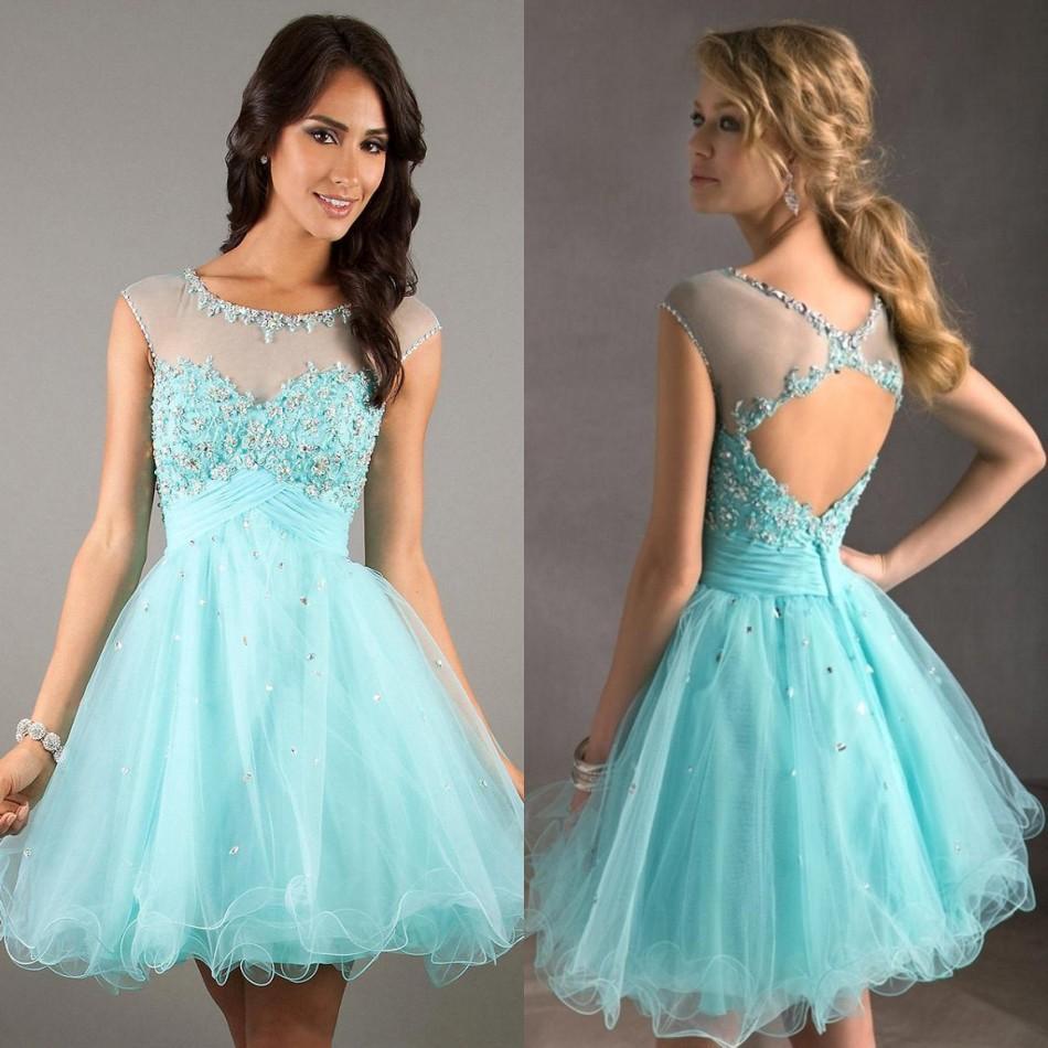 Nice Short Halter Prom Dress Frieze - Wedding Dress Ideas ...