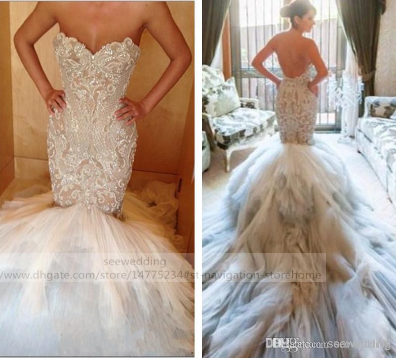 Custom Jaton Couture Mermaid Wedding Dresses Sweetheart