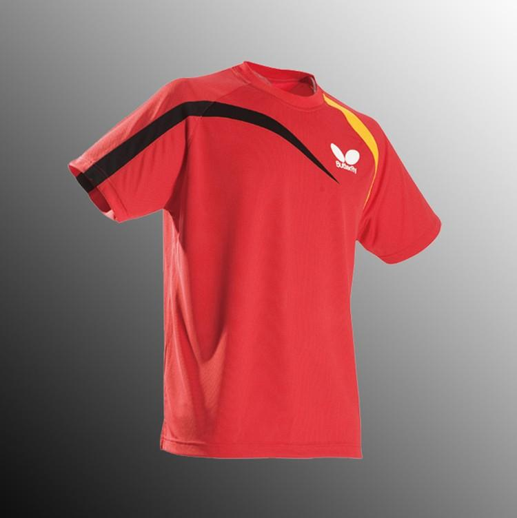 2017 butterfly athletic table tennis shirt men polyester for Table tennis shirts butterfly