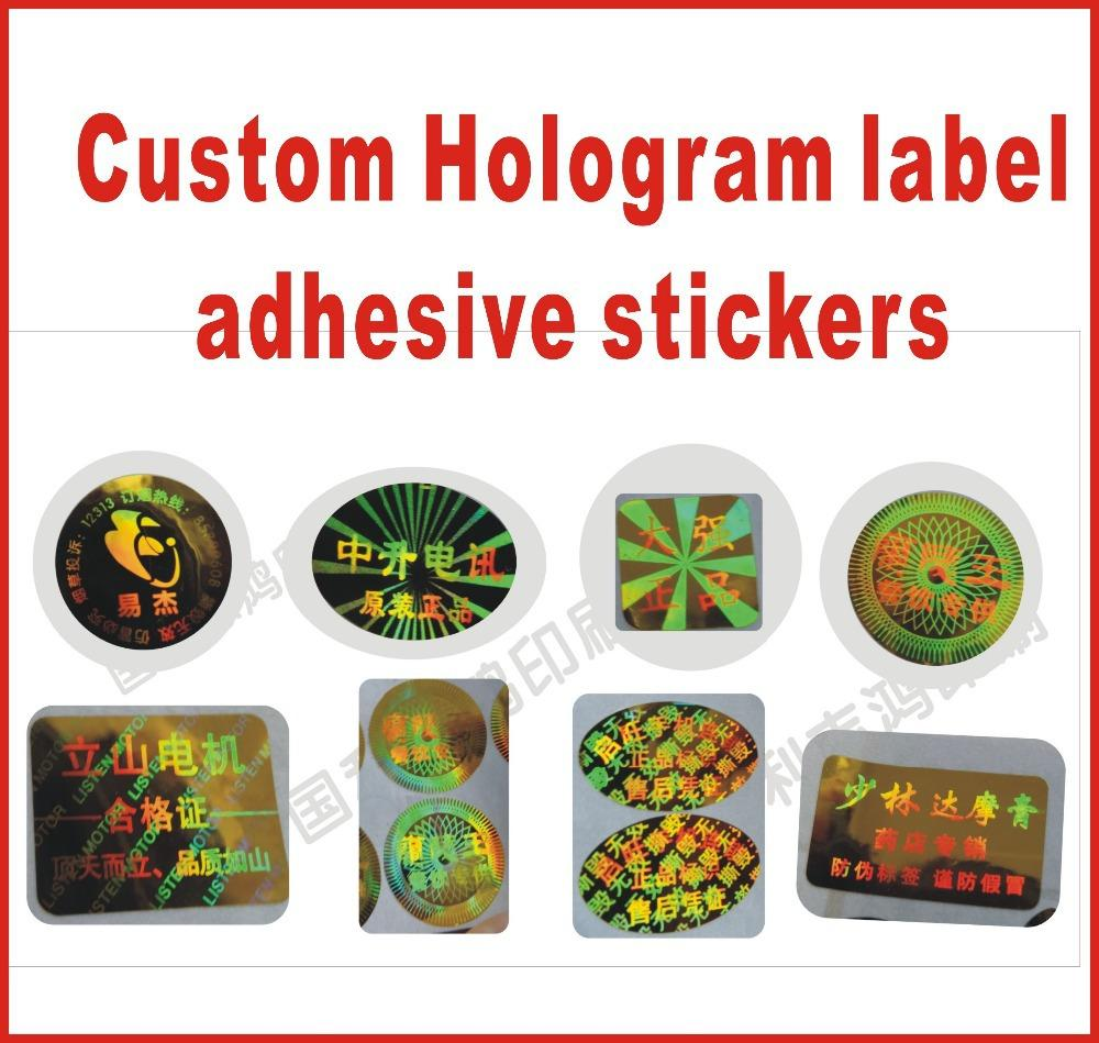 Custom hologram label adhesive stickers printing gold or for Custom mailing stickers
