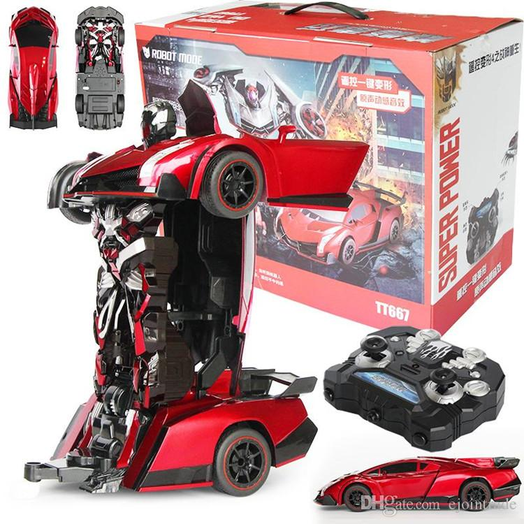 Christmas Toys Cars : Remote control deformation robot transforming car