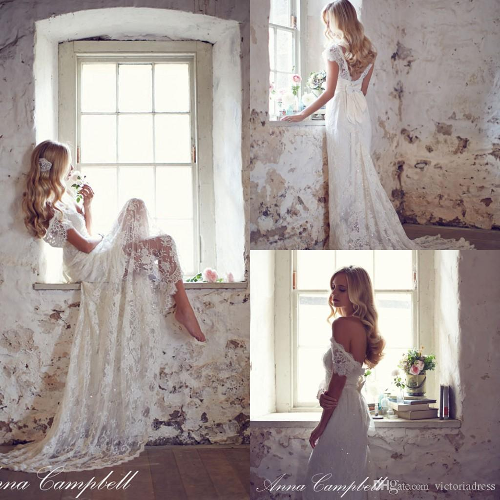 Anna campbell vintage softly lace wedding dresses 1950 39 s for Anna campbell vintage wedding dress