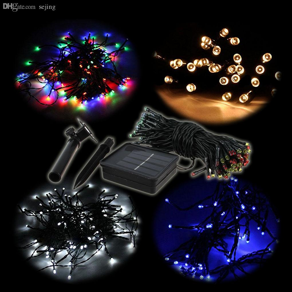 Indoor string lights for sale - Wholesale Top Sale 12m 100 Led Green Light Solar String Lamp Christmas New Year Festival Deco White Warm White Blue Colorful Led String Lights Indoor String