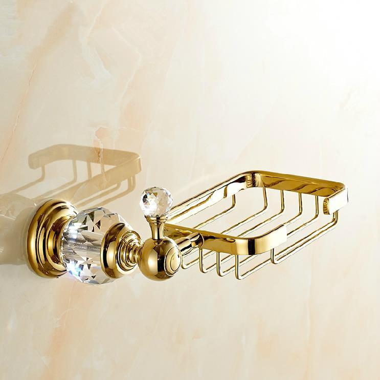 Crystal   Brass Gold Soap Dishes   Soap Holder Soap Case Bathroom  Accessories 4552. Online Cheap Crystal   Brass Gold Soap Dishes   Soap Holder Soap