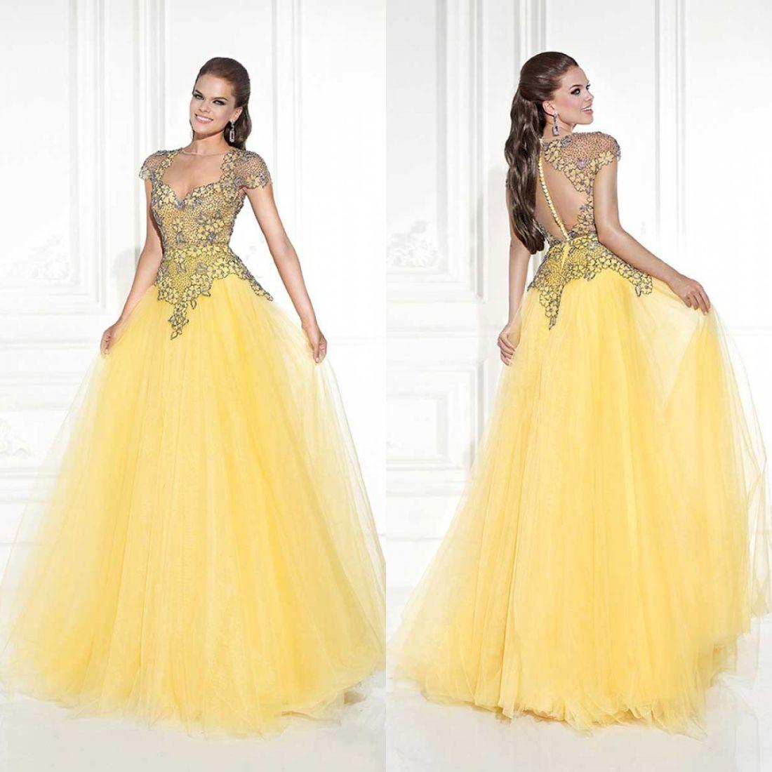 Princess 2015 Formal Tarik Ediz Yellow Daffodil Evening Dresses ...