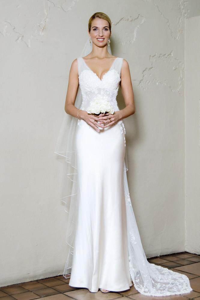 Wedding Dresses Long Beach Ca : Sexy wedding dresses chic v neck satin dress