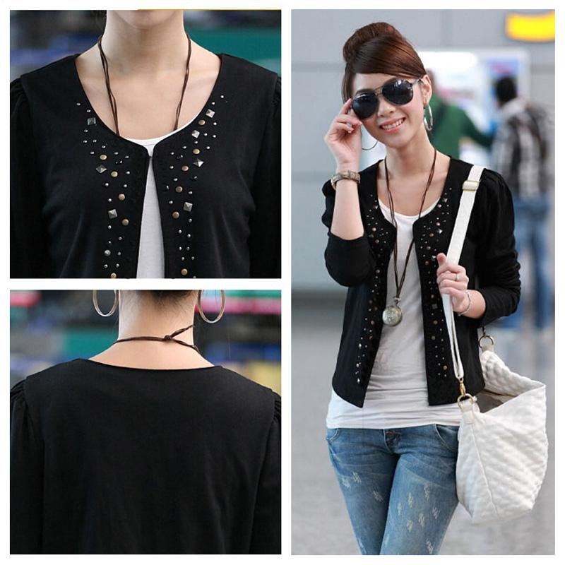 Black/White Fashion Autumn 2015 Female Coats Womens Short Jackets With