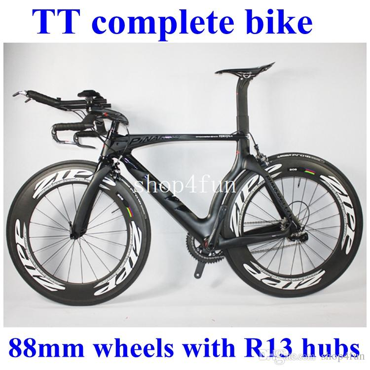 Tt Complete Bike Road Bike Bicycle Full Carbon Fiber Black