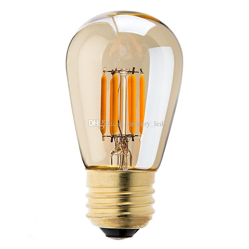 vintage led filament bulb3wgold tintedison st45 pearl stylesuper household st45 led filament lamp led bulb light e27 led