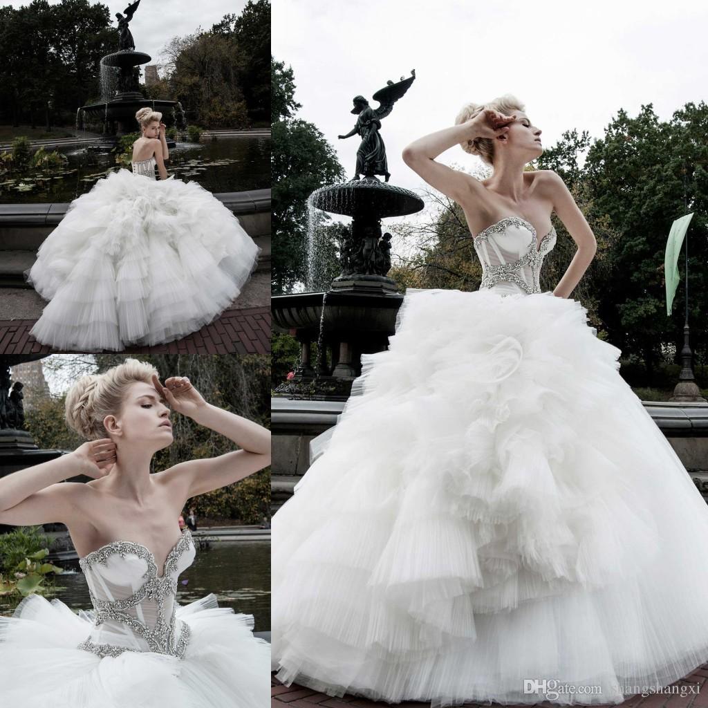2015 Pnina Tornai Wedding Dresses Ball Gown Sweetheart See