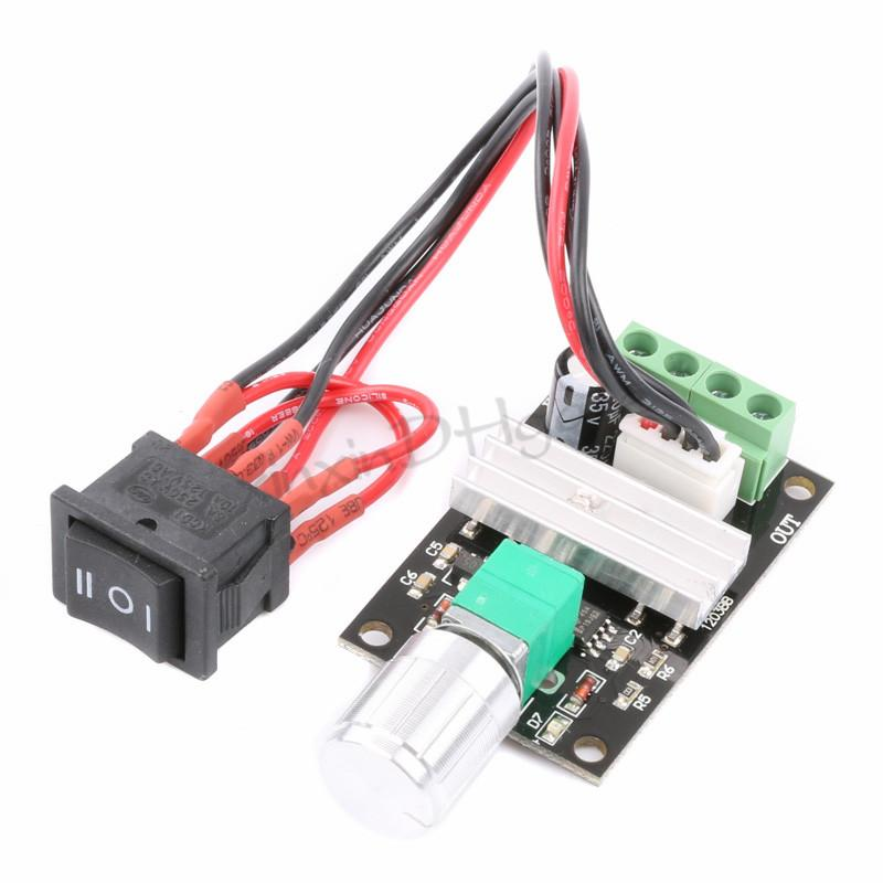 2017 pwm dc 6v 12v 24v 3a motor speed controller for 12v servo motor controller