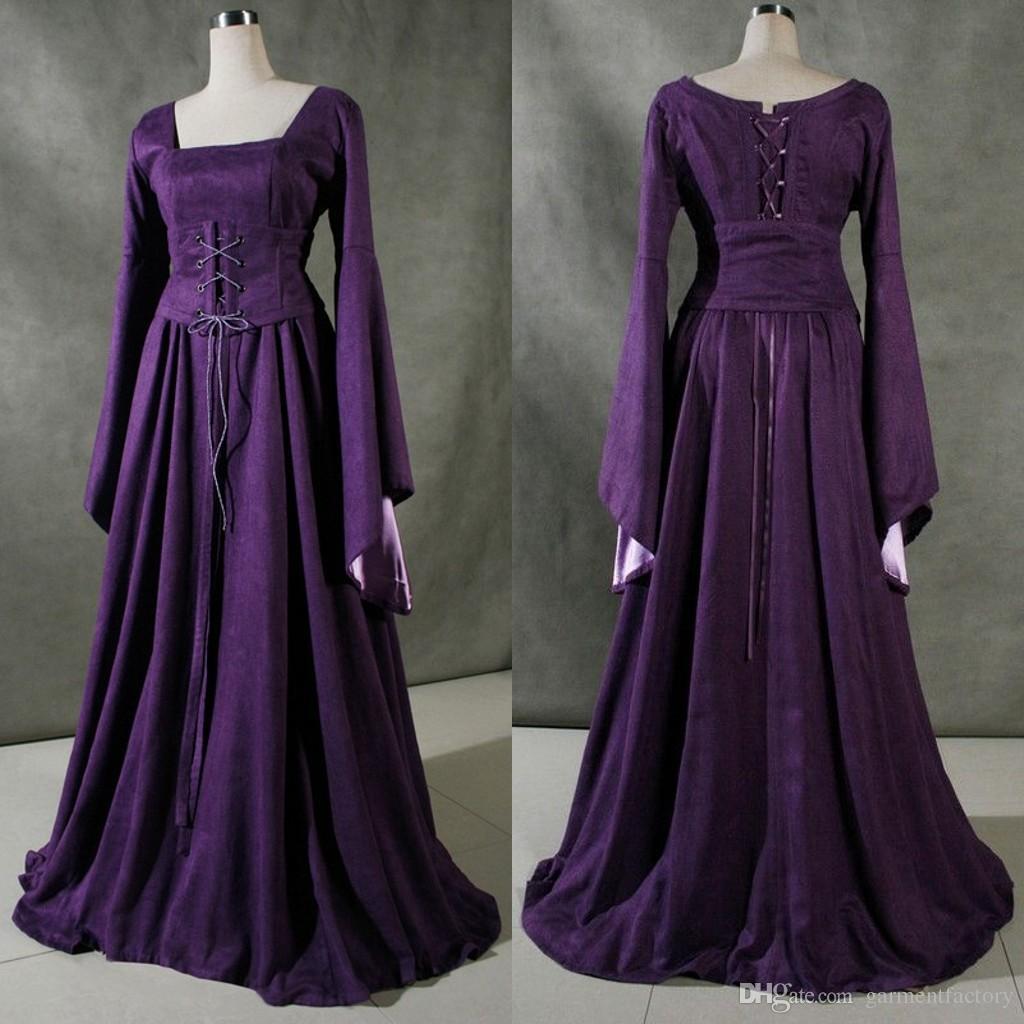 Discount Vintage Victorian Wedding Dresses Long Sleeves