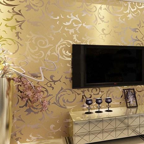 Luxury velvet victorian wallpaper background wall for Wallpaper mobile home walls