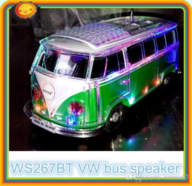 new ws267bt mini gift bus vw bus stereo bluetooth speaker. Black Bedroom Furniture Sets. Home Design Ideas