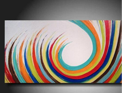 2017 100% hand painted contemporary hotel decorative abstract art
