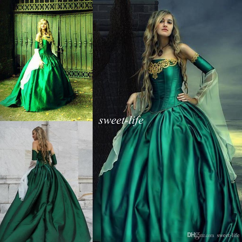 Gothic green wedding dresses dress images gothic green wedding dresses junglespirit Choice Image