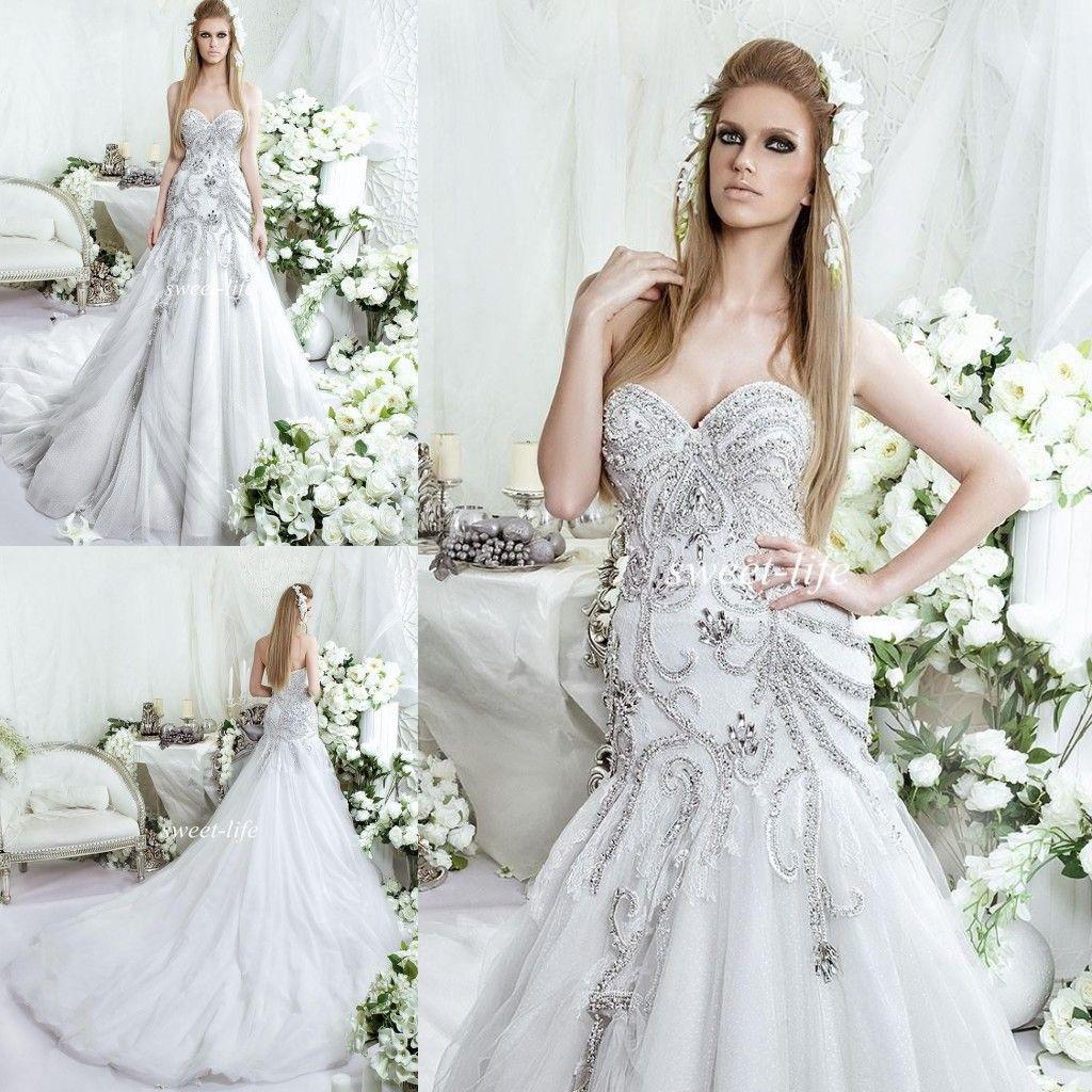 Dar Sara 2016 Bling Royal Mermaid Wedding Dresses Backless