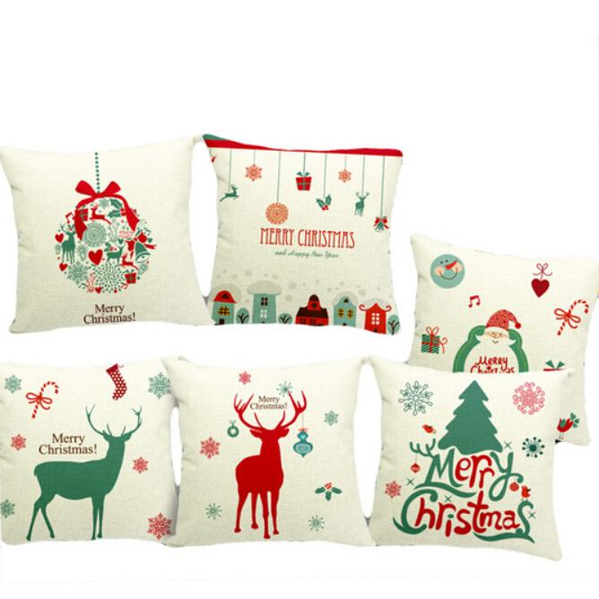 2015 Christmas Cushions High Quality Signature Cotton Home Decor