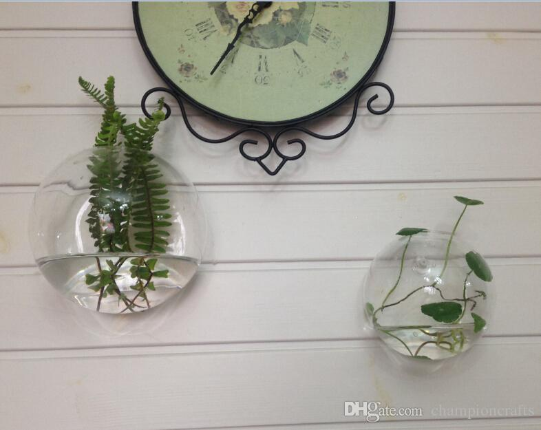Set Of 2 Wall Hanging Glass Bubble Planter With Moss Succulent Wall Fish Bowl