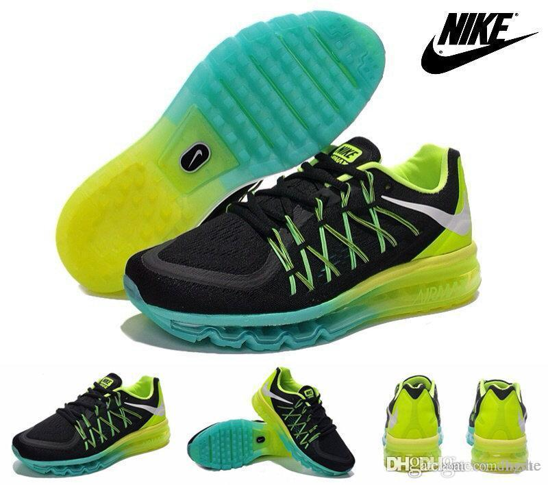 ... Nike Air Max 2015 Mens Running Shoe White/Black/Volt ...