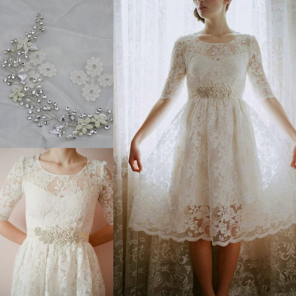 2015 short beach wedding dresses for boho chic bohemian for Boho country wedding dress