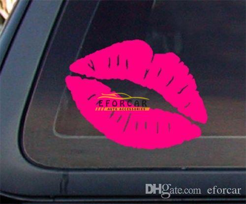 Waterproof Kiss Mark Lips Car Decal Sticker Sexy Hot Pink Vinyl - Car window decal stickers online