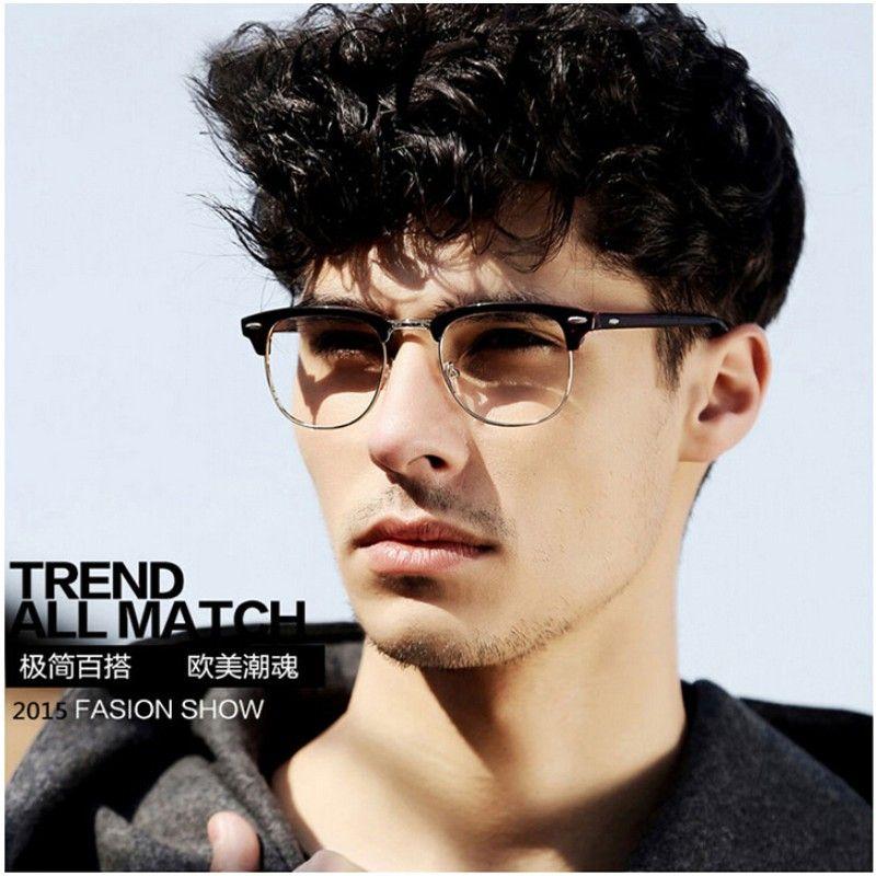 No Frame Mens Glasses : 2017 Half Frame Glasses Men New Brand Eyeglasses Computer ...