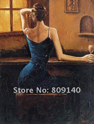 2017 Woman Lady'S Back Portrait Oil Painting Canvas ...