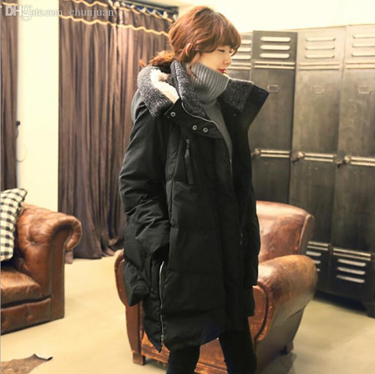 Wholesale-New 2015 Fashion Parkas Hooded Women Thick Military Coat ...