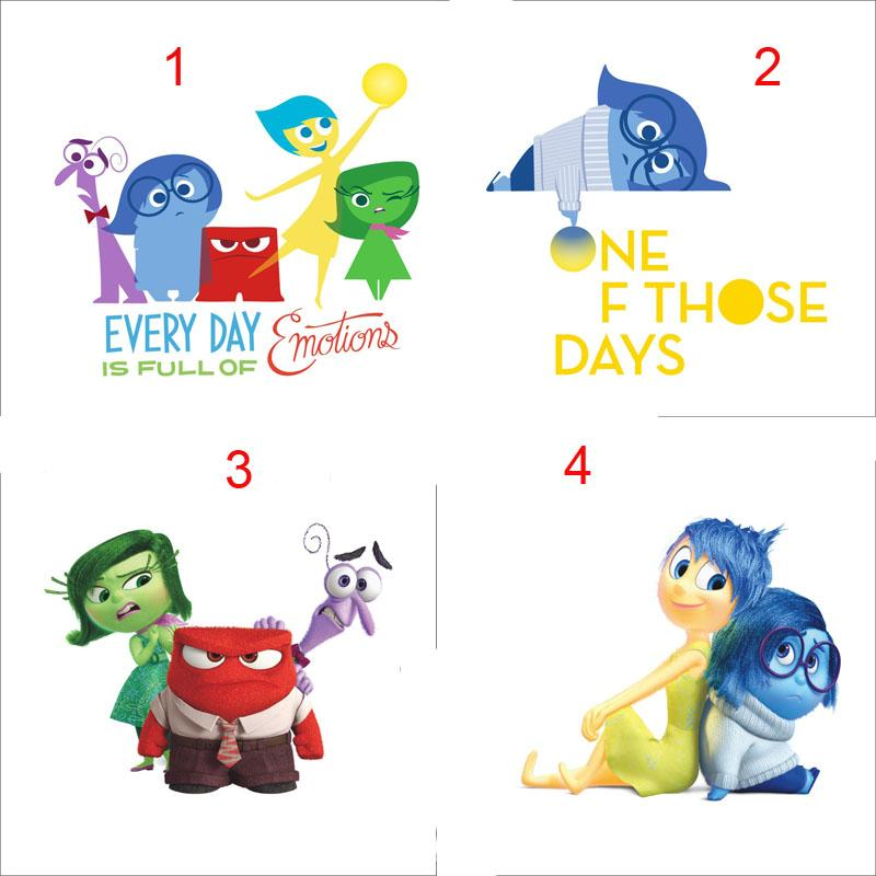 3d Cartoon Inside Out Wall Sticker For Kids Rooms Removable Wall ...